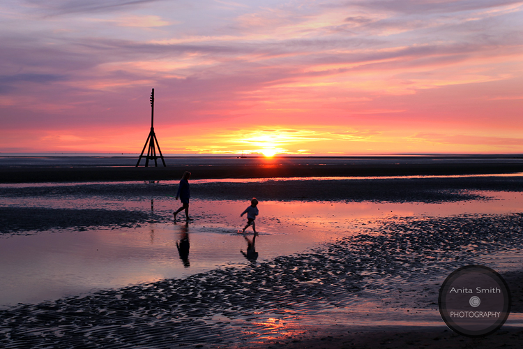 Sunset at Crosby Beach